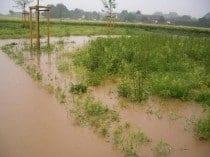 Überschwemmung durch Oberflächenwasser