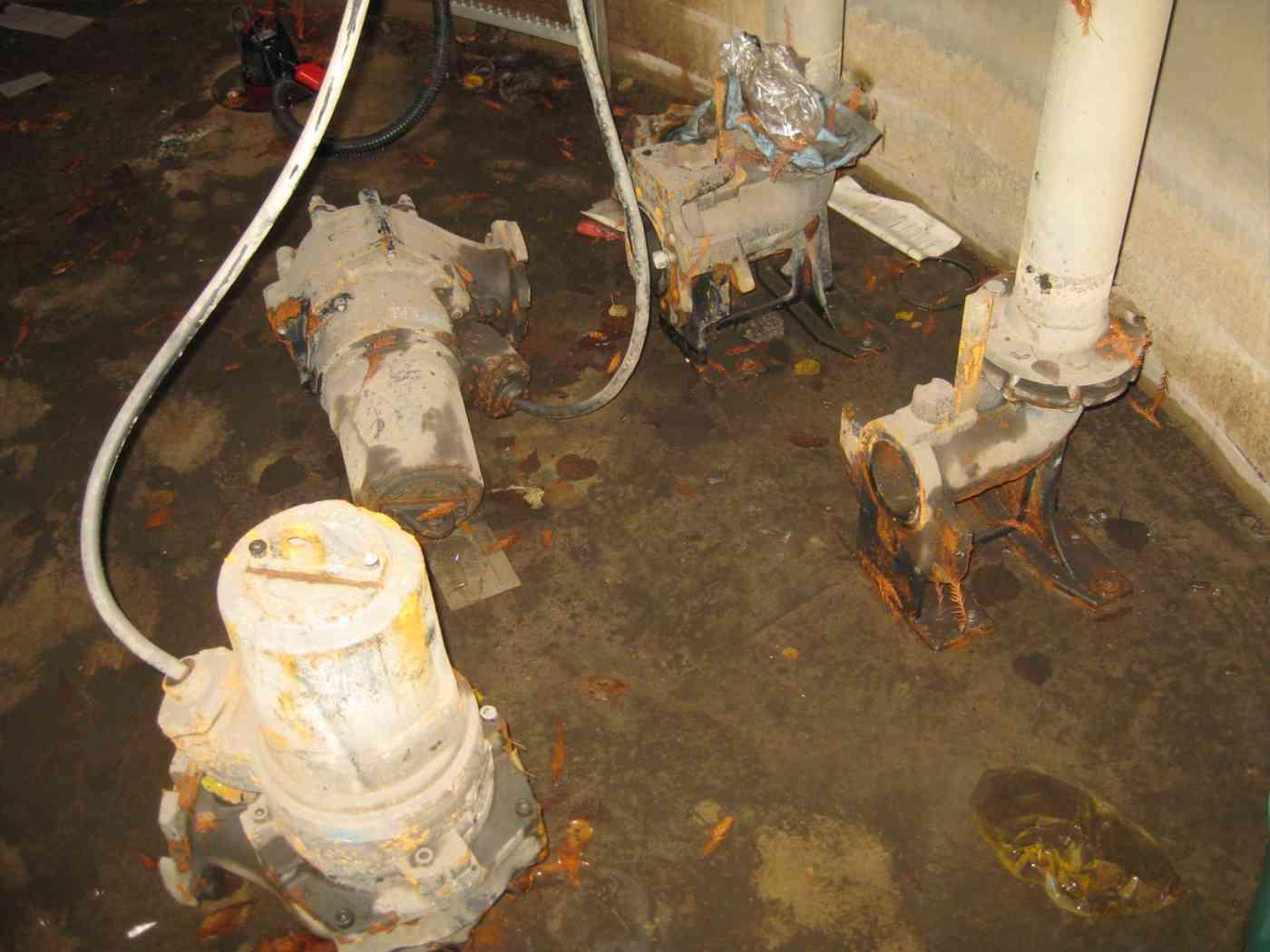 Schaden am Pumpwerk in einem Regenbecken