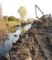 Renaturierung einer Flussaue