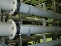 Risse in den Rohrleitungen einer Ultrafiltrationsanlage